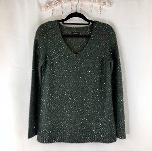 Apt. 9 V-Neck Sparkle Sequin Women's Sweater